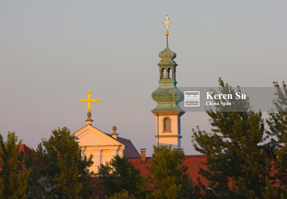 Church spires, Ptuj, Slovenia