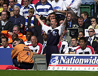 Photo: Greig Cowie<br /> Cardiff v QPR. 2nd Division Playoff Final, Millenium Stadium Cardiff. 25/05/2003<br /> Ian Holloway cant believe it