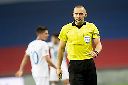 Referee during football match between National Teams of Slovenia and Cyprus in Final Tournament of UEFA Nations League 2019, on October 16, 2018 in SRC Stozice, Ljubljana, Slovenia. Photo by Urban Urbanc / Sportida