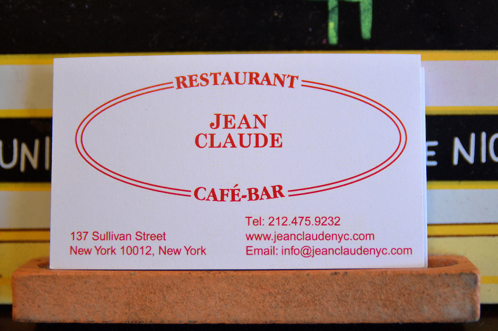 Photograph of Jean Claude Restaurant in the Upper East Side of Manhattan.