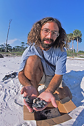 James Buehler W/loggerhead Hatchlings