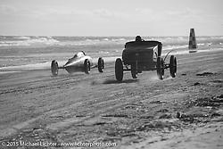 Racing down the beach at the Race of Gentlemen. Wildwood, NJ, USA. October 10, 2015.  Photography ©2015 Michael Lichter.
