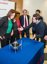 Pictured: Apprentic e Fergus McCater explained the detailes of the weapons guidance componant to Kezia Dugdale, Jackie Baiie and Richard Leonard<br /> Scottish Labour leader Kezia Dugdale, Shadow Economy Secretary Jackie Baillie and Shadow Economy minister Richard Leonard visited Leonardo Airborne and Space Systems today to launch Scottish Labour's industrial strategy. <br />  <br /> Ger Harley | EEm 6 July  2017