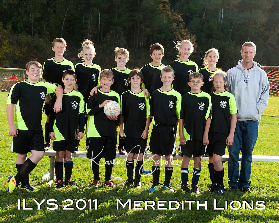 Inter Lakes Youth Soccer League Meredith Lions October 15, 2011.