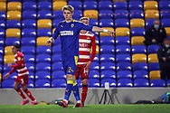 AFC Wimbledon midfielder Jack Rudoni (12) pointing during the EFL Sky Bet League 1 match between AFC Wimbledon and Doncaster Rovers at Plough Lane, London, United Kingdom on 3 November 2020. The first League match at the new stadium.