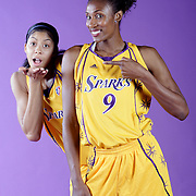 Lisa Leslie and Candace Parker of the WNBA's LA Sparks.