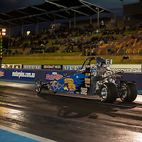 Jack Wasley (382) leaving the line in his Speed Fever Junior Dragster at the Perth Motorplex.