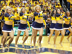 Jan 20, 2018; Morgantown, WV, USA; The West Virginia Mountaineers dance team performs during the first half against the Texas Longhorns at WVU Coliseum. Mandatory Credit: Ben Queen-USA TODAY Sports