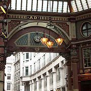 View of entrance in leadenhall market.