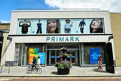 © Licensed to London News Pictures. 13/06/2020. WATFORD, UK. The Primark store in Watford High Street.  To try to stimulate the economy, the UK Government is easing coronavirus pandemic lockdown restrictions to permit non-essential shops to re-open on 15 June, but only if they are Covid19 compliant.  Shoppers will also need to practice social distancing.  After a record 20.4% reduction in gross domestic product (GDP) in April, the country is on course for the worst recession in more than three centuries.  Photo credit: Stephen Chung/LNP
