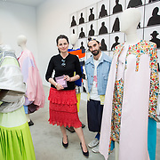 """18.05.2018.          <br /> More than 500 people attended the flagship event of the inaugural Unwrap LSAD Fashion Festival in Limerick.<br /> <br /> Pictured are Muireann Charleton, LSAD and  fashion stylist and creative director Kieran Kilgallon.<br /> <br /> The Limerick School of Art & Design, LIT, Fashion Design Graduate Exhibition and launch of the """"The Fashion Film"""" at Limerick City Gallery of Art, in partnership with EVA International, attracted hundreds of people from the world of fashion. <br /> <br /> A total of 27 fashion graduates presented their designs alongside the specially commissioned film by fashion stylist and creative director Kieran Kilgallon and videographer Albert Hooi. Picture: Alan Place"""
