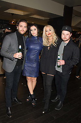 Left to right, MIKE KERR, CHARLI XCX, RITA ORA and BEN THATCHER at the Al Films and Warner Music Screening of Kill Your Friends held at the Curzon Soho Cinema, 99 Shaftesbury Avenue, London on 27th October 2015.