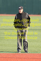 21 April 2015:  Umpire Timothy Catton during an NCAA Inter-Division Baseball game between the Illinois Wesleyan Titans and the Illinois State Redbirds in Duffy Bass Field, Normal IL