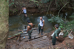 El Diamante, Meta, Colombia - 18.09.2016        <br /> <br /> 10th conference of the marxist FARC-EP in El Diamante, a Guerilla controlled area in the Colombian district Meta. Few days ahead of the peace contract passing after 52 years of war with the Colombian Governement wants the FARC decide on the 7-days long conferce their transformation into a unarmed political organization. <br /> <br /> Zehnte Konferenz der marxistischen FARC-EP in El Diamante, einem von der Guerilla kontrollierten Gebiet im kolumbianischen Region Meta. Wenige Tage vor der geplanten Verabschiedung eines Friedensvertrags nach 52 Jahren Krieg mit der kolumbianischen Regierung will die FARC auf ihrer sieben taegigen Konferenz die Umwandlung in eine unbewaffneten politischen Organisation beschlieflen. <br />  <br /> Photo: Bjoern Kietzmann