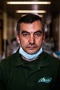 """Pedro Machado, hospital cleaning employee """"a lot of work, even more cares"""""""