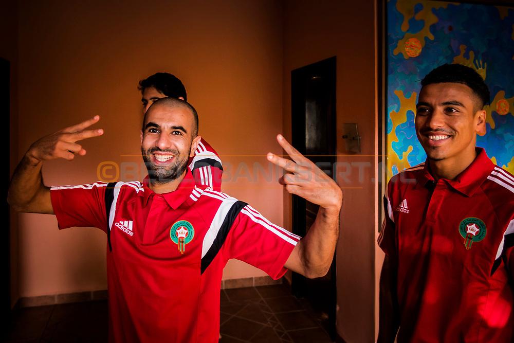 08-10-2015 -  Foto van Mounir Obbadi van het Marokkaans voetbalteam bij Tikida Golf Palace in Agadir, Marokko. Tikida Golf Palace is een in Moorse stijl ingericht kleinschalig hotel met 54 kamers dat ligt aan de 18-holes Tikida Course van Golf du Soleil.