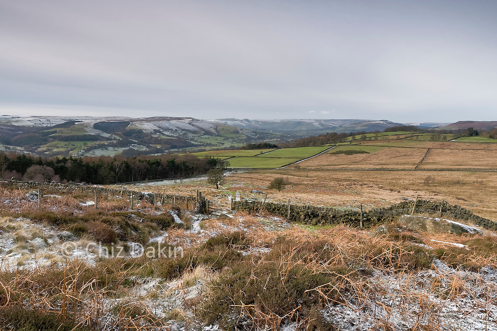 Looking down to Little Moor from access land below Over Owler Tor