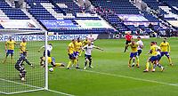 Preston North End's Patrick Bauer scores the opening goal <br /> <br /> Photographer Alex Dodd/CameraSport<br /> <br /> The EFL Sky Bet Championship - Leeds United v Barnsley - Thursday 16th July 2020 - Elland Road - Leeds<br /> <br /> World Copyright © 2020 CameraSport. All rights reserved. 43 Linden Ave. Countesthorpe. Leicester. England. LE8 5PG - Tel: +44 (0) 116 277 4147 - admin@camerasport.com - www.camerasport.com<br /> <br /> Photographer Alex Dodd/CameraSport<br /> <br /> The EFL Sky Bet Championship - Preston North End v Birmingham City - Saturday 18th July 2020 - Deepdale Stadium - Preston<br /> <br /> World Copyright © 2020 CameraSport. All rights reserved. 43 Linden Ave. Countesthorpe. Leicester. England. LE8 5PG - Tel: +44 (0) 116 277 4147 - admin@camerasport.com - www.camerasport.com
