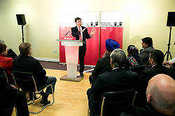 © Licensed to London News Pictures. 25/2/2016, Birmingham, UK. Labour Leader JEREMY CORBYN with ANDY BURNHAM launching the Labour campaign for Police and Crime Commissioner Elections. Photo credit : Dave Warren/LNP