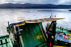The loading ramp on the car ferry from Fishnish in Mull to the Scottish mainland at Lochaline<br /> <br /> (c) Andrew Wilson | Edinburgh Elite media