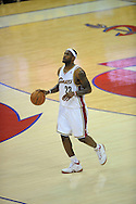 The Washington Wizards defeated the Cleveland Cavaliers 88-87 in Game 5 of the First Round of the NBA Playoffs, April 30, 2008 at Quicken Loans Arena in Cleveland..LeBron James of Cleveland