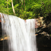 """Falling Light""<br /> <br /> Beautiful Cucumber Falls in Ohiopyle PA."