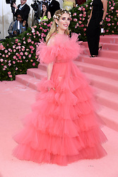 """Photo by: Doug Peters/starmaxinc.com<br />STAR MAX<br />©2019<br />ALL RIGHTS RESERVED<br />Telephone/Fax: (212) 995-1196<br />5/6/19<br />Emma Roberts at the 2019 Costume Institute Benefit Gala celebrating the opening of """"Camp: Notes on Fashion"""".<br />(The Metropolitan Museum of Art, NYC)"""