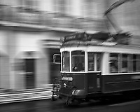 Tram in the Rain. Afternoon walkabout in Lisbon. Image taken with a Leica CL camera and 23 mm f/2 lens.
