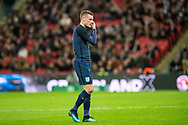 England (9) Jamie Vardy during the Friendly match between England and Germany at Wembley Stadium, London, England on 10 November 2017. Photo by Sebastian Frej.
