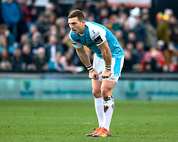 George North of Ospreys<br /> <br /> Photographer Simon King/Replay Images<br /> <br /> Guinness PRO14 Round 12 - Dragons v Ospreys - Sunday 30th December 2018 - Rodney Parade - Newport<br /> <br /> World Copyright © Replay Images . All rights reserved. info@replayimages.co.uk - http://replayimages.co.uk