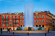 Fountain at Place Massena in Nice, France