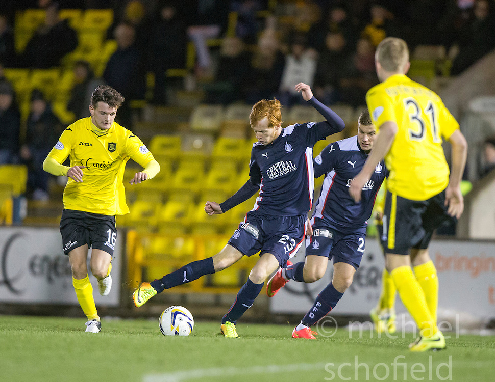 Livingston Jack Beaumont and Falkirk's Scott Shepherd. <br /> Livingston 0 v 1 Falkirk, Scottish Championship played13/12/2014 at The Energy Assets Arena.