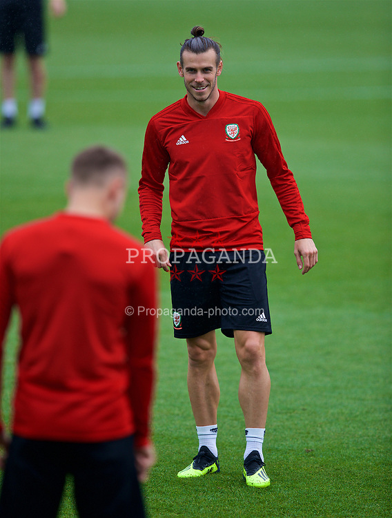 CARDIFF, WALES - Monday, September 3, 2018: Wales' Gareth Bale during a training session at the Vale Resort ahead of the UEFA Nations League Group Stage League B Group 4 match between Wales and Republic of Ireland. (Pic by David Rawcliffe/Propaganda)