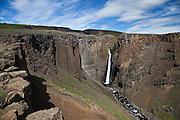 Litlanesfoss in river Hengifossá, Fljótsdalur - East Iceland.