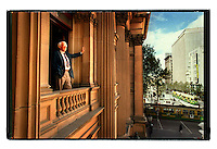 csz990407.001.001.jpg. melbourne lord mayor peter costigan looking out of the town hall, pic by craig sillitoe, news melbourne photographers, commercial photographers, industrial photographers, corporate photographer, architectural photographers, This photograph can be used for non commercial uses with attribution. Credit: Craig Sillitoe Photography / http://www.csillitoe.com<br /> <br /> It is protected under the Creative Commons Attribution-NonCommercial-ShareAlike 4.0 International License. To view a copy of this license, visit http://creativecommons.org/licenses/by-nc-sa/4.0/. This photograph can be used for non commercial uses with attribution. Credit: Craig Sillitoe Photography / http://www.csillitoe.com<br /> <br /> It is protected under the Creative Commons Attribution-NonCommercial-ShareAlike 4.0 International License. To view a copy of this license, visit http://creativecommons.org/licenses/by-nc-sa/4.0/.