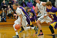 Lakewood at Elyria Catholic boys varsity basketball on February 13, 2015. Images copyright © David Richard and may not be copied, posted, published or printed without permission.