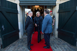 Secretary of Defense Jim Mattis and Danish Minister of Defence Claus Hjort Frederiksen welcome Jeannie Hennis-Plasschaert, Netherland's minister of defence, to a Global Coalition on the Defeat of ISIS meeting at Eigtveds Pakhus in Copenhagen, Denmark, May 9, 2017. (DOD photo by U.S. Air Force Staff Sgt. Jette Carr)