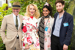 © Licensed to London News Pictures. 19/05/2014. London, England. Model Jerry Hall at a photocall with friends. Press Day at the RHS Chelsea Flower Show. On Tuesday, 20 May 2014 the flower show will open its doors to the public.  Photo credit: Bettina Strenske/LNP