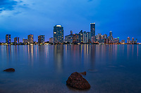 Miami - Brickell Skyline (Blue Hour)
