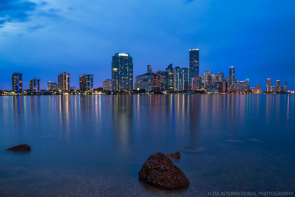 Miami - Brickell Skyline (Blue Hour)
