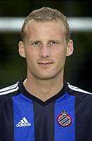 Fotball<br /> Foran seriestart i Belgia 2003/2004<br /> Rune Lange - Brügge / Brugge<br /> Foto: Nico Vereecken, Digitalsport