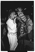 PARAM MYLVAYAAM, JULIETTE MARY DONOVAN, , Sultans Ball. Oxford Town Hall, March 1986