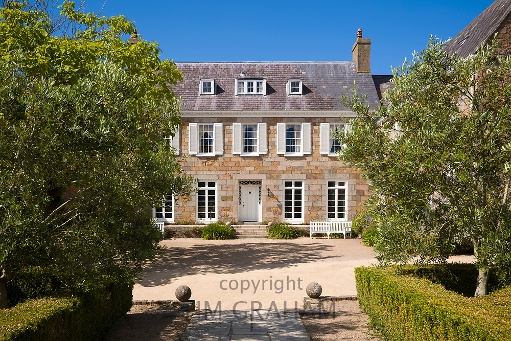 Les Augres Manor, former home of Gerald Durrell founder of Jersey Zoo and Durrell Wildlife Conservation Trust in the Channel Isles