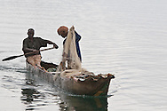 Photo Randy Vanderveen.Kibuye, Rwanda.Fishermen on Lake Kivu near Kibuye