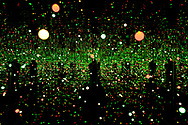"""""""Gleaming Lights of the Soul"""" a mixed media installation by veteran Japanese artist Yayoi Kusama, on display at Pilkington's one of the venues for the 2008 Liverpool Biennial, the UK's largest contemporary international arts festival. The Biennial commenced on September 20 and runs until the end of November. Liverpool was also 2008 European Capital of Culture."""