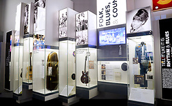 Rock and Roll memorabilia are on display in the Smithsonian National Museum of African American History and Culture on September 21, 2016 in Washington, DC.The National Museum of African American History and Culture will open on Sept. 24 in Washington thirteen years since Congress and President George W. Bush authorized its construction, the 400,000-square-foot building stands on a five-acre site on the National Mall, close to the Washington Monument. President Obama will speak at its opening dedication.Photo by Olivier Douliery/Abaca