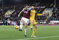 Burnley's Chris Wood vies for possession with Brighton & Hove Albion's Leon Balogun<br /> <br /> Photographer Rich Linley/CameraSport<br /> <br /> The Premier League - Burnley v Brighton and Hove Albion - Saturday 8th December 2018 - Turf Moor - Burnley<br /> <br /> World Copyright © 2018 CameraSport. All rights reserved. 43 Linden Ave. Countesthorpe. Leicester. England. LE8 5PG - Tel: +44 (0) 116 277 4147 - admin@camerasport.com - www.camerasport.com