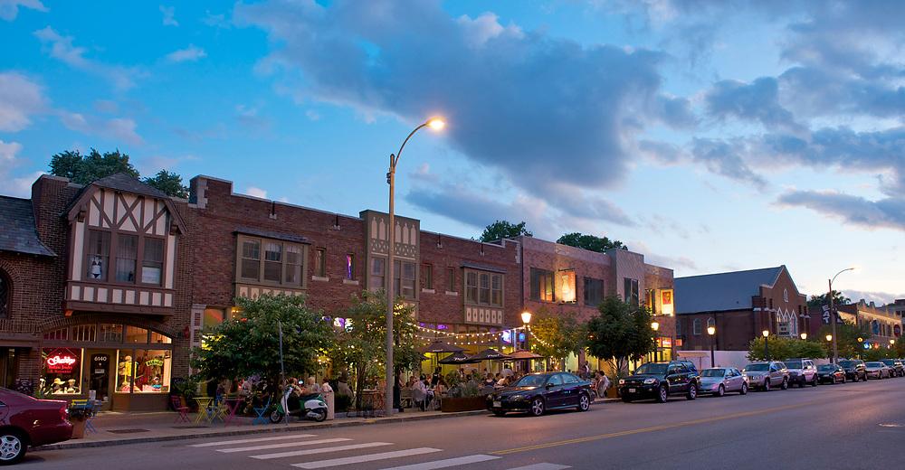 The University City Loop neighborhood in St. Louis, Missouri