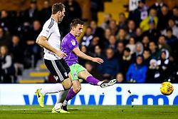 Joe Bryan of Bristol City is challenged by Kevin McDonald of Fulham - Rogan/JMP - 31/10/2017 - Craven Cottage - London, England - Fulham FC v Bristol City - Sky Bet Championship.
