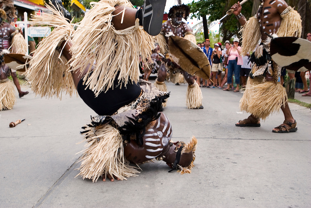 West Indian dance performance on St. John during carnival.